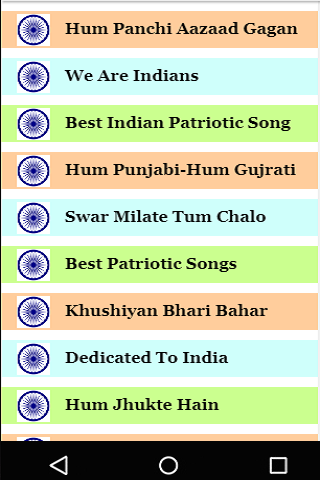 Hindi Independence Day Songs Videos screenshot 2