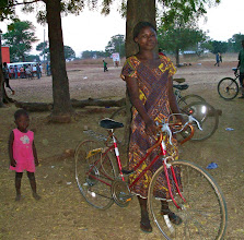 Photo: Safia will share her bike with her husband and her son. She will ride to the market, which is 2 miles away, a few times a week. Her husband will use the bike to visit his parents and relatives in the evenings, and her son will ride the bike 2 miles to school.