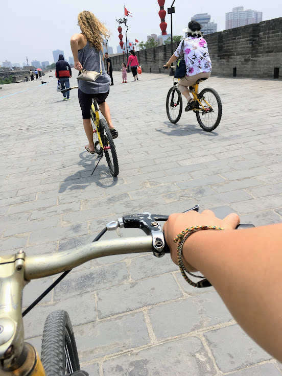 Biking Xian's City Wall