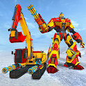 Excavator Robot Transforming Games-Snow Excavator icon