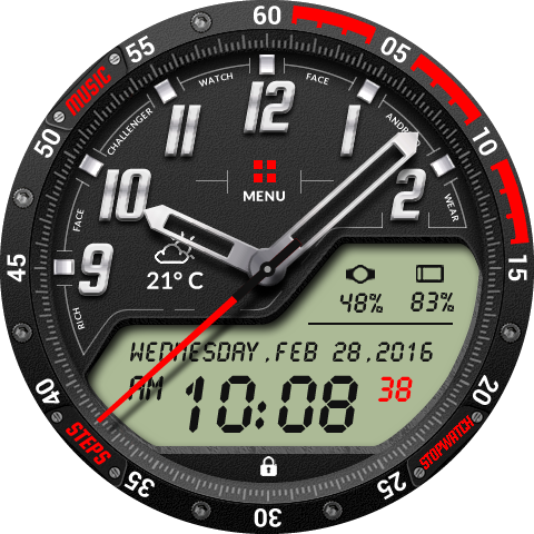 Challenger Watch Face- screenshot
