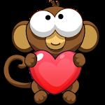Bubble Monkey Valentine's Day! Icon