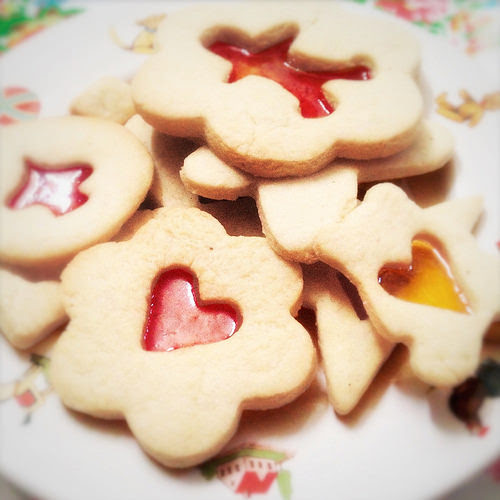 candy center, christmas cookie, cookies, ornament, recipe, Stained Glass, 彩色, 玻璃, 餅乾