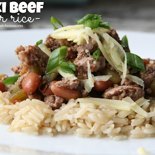 Mexi Beef {over rice}
