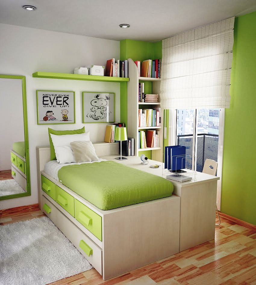 A Lime Green Bedroom To Wake You Up