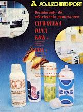 """Photo: Reklama dezodorantów importowanych z ZSSR, ~1970 r. (""""Gospodyni""""  ~1970 r.)"""