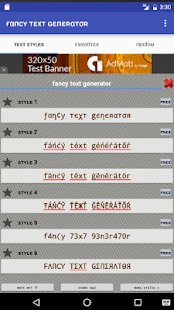 Fancy Text Generator- screenshot thumbnail