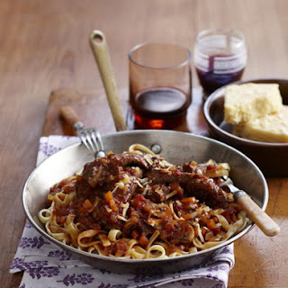 Pork Rib Ragout with Fettucine