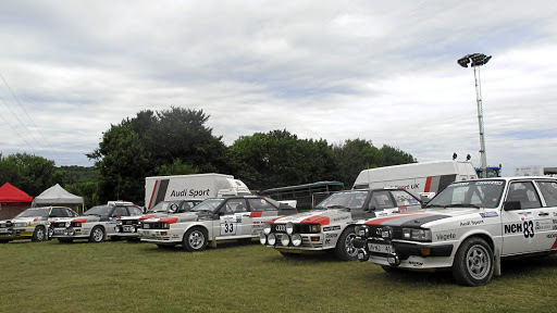 A number of iconic Audi rally cars.    Picture: MARK SMYTH