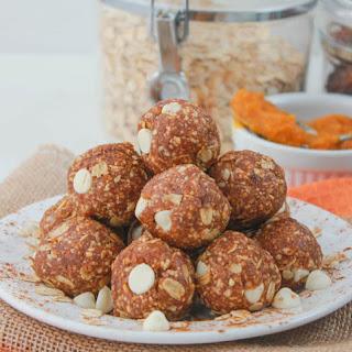 Pumpkin White Chocolate Oat Balls