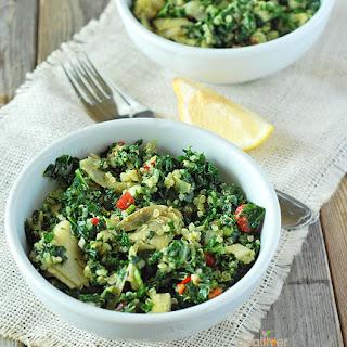 Kale, Quinoa and Artichoke Salad.