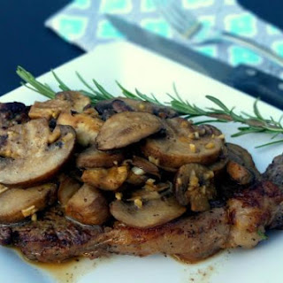 Rib Eye Steak with Sauteed Mushrooms