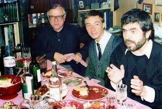 Photo: Сороковины ВПН. Отец Алексей, Никита Круглый, Анатолий Шагинян, Ванв, 12.10.1987