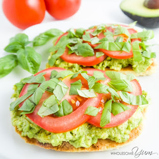 Tomato Basil Avocado Toast (Paleo, Low Carb)