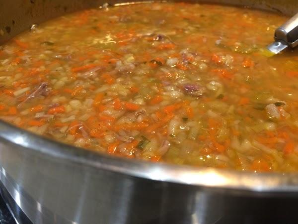 Grandma's Vegetable Beef And Barley Soup Recipe