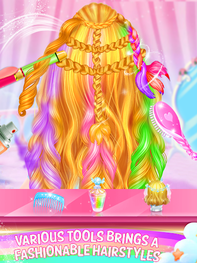 Rainbow Braided Hair Salon-Hairstyle By Number hack tool