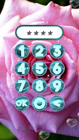 android Rose Bildschirm sperren. Screenshot 3