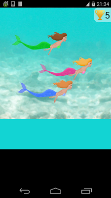 mermaid swimming race game - screenshot