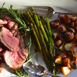 Easter, Part Three- Grilled Leg of Lamb with Garlic and Rosemary