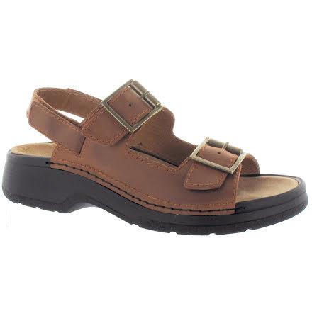 Knut konjak sandal m 2remmar+ avtagbar bak