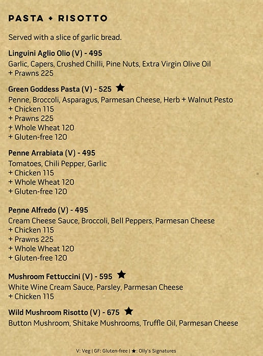 OLLY-Olive's All Day Cafe menu 5