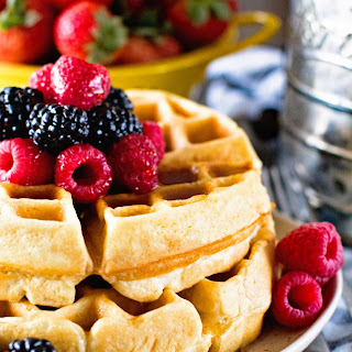 Light Fluffy Homemade Waffles Recipe