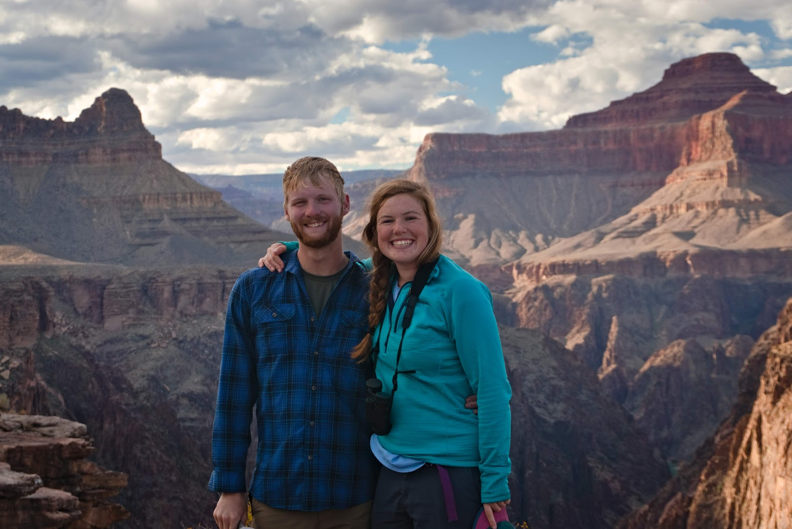 Nothing but smiles after few long days on the trail, Grand Canyon National Park, Arizona