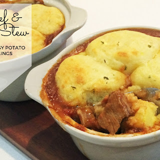 Beef and Ale Stew with Cheesy Potato Dumplings