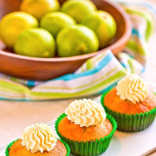 Lime Olive Oil Cupcakes.