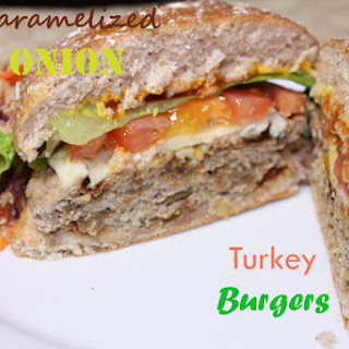 Caramelized Onion Turkey Burgers