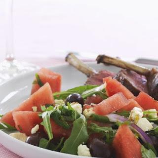 Watermelon Salad with Lamb Chops