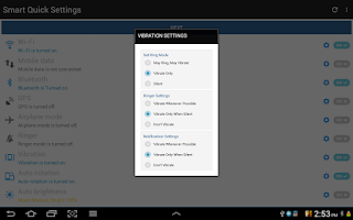 Screenshot of Smart Quick Settings