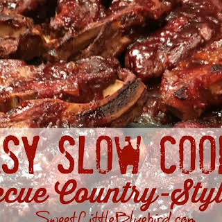 Easy Slow Cooker Barbecue Country-Style Ribs.