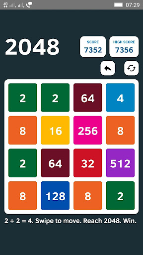 Ekstar 2048 game for Android screenshot
