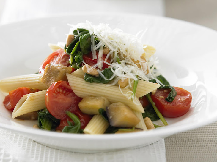Pasta with Eggplant and Tomatoes Recipe