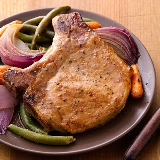 Oven-Roasted Pork Chops and Vegetables Recipe