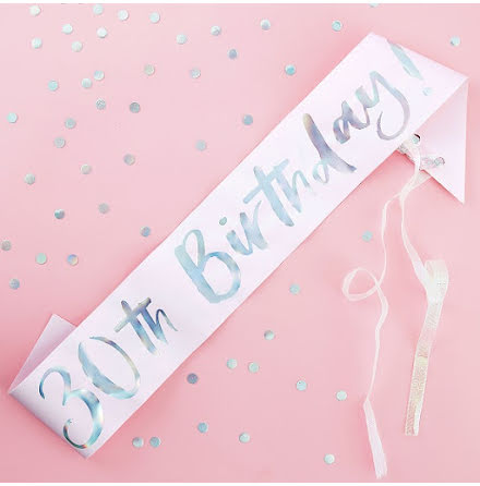 Ordensband 30th birthday - Pastel party