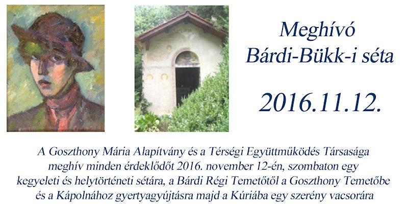 Goszthony Mária kegyeleti és helytörténeti séta 2016.11.12