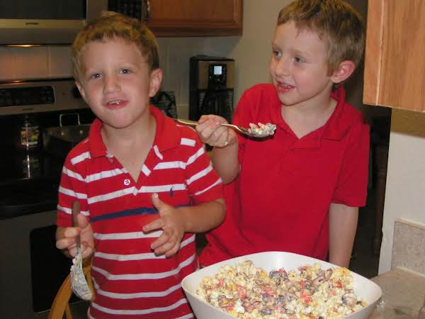 My Grandson's Having Fun In The Kitchen With Dee Dee.