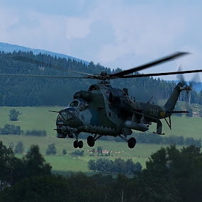 helicopter by Pavel Vrba - Transportation Airplanes ( army, military )