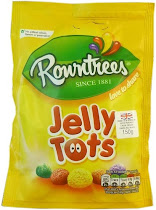 Rowntree's Jelly Tots Sweets Candy - 150g