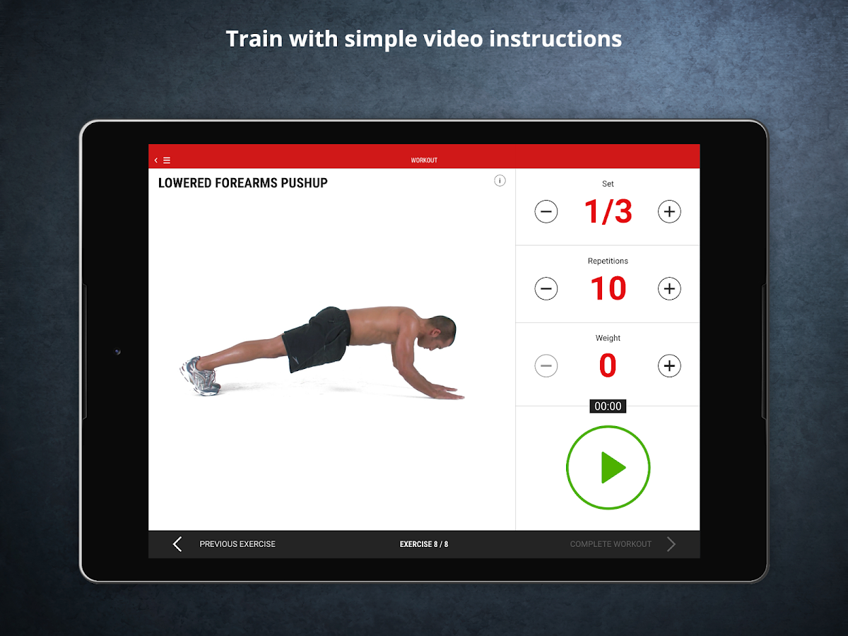 Mens Health Fitness Trainer - Workout & Training- screenshot