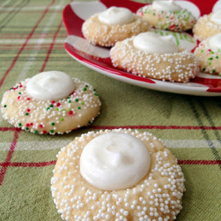 Buttercream Thumbprint Sugar Cookies