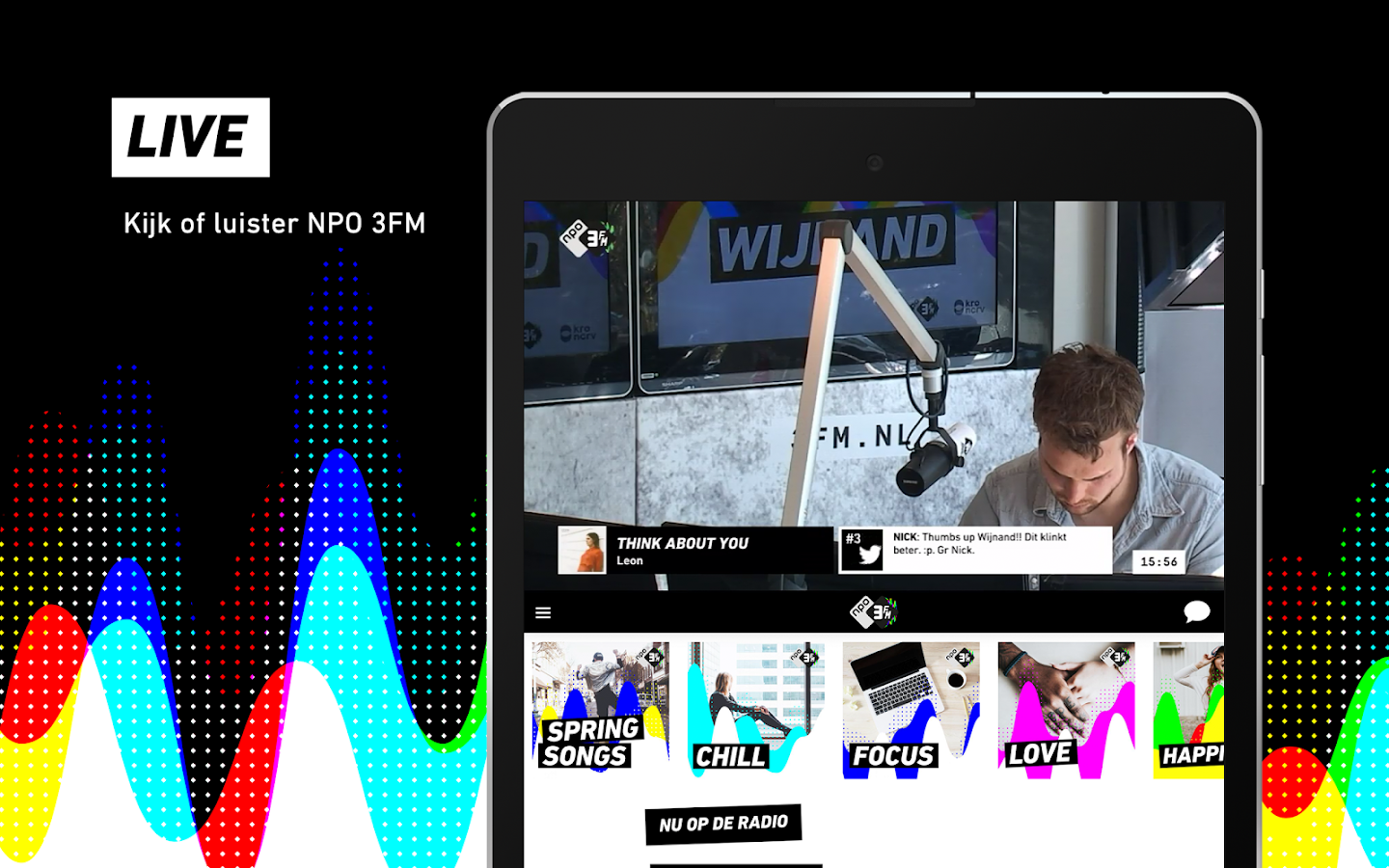 NPO 3FM – Music Starts Here- screenshot