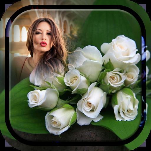 White Rose Photo Frame