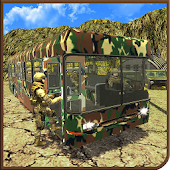 Offroad Uphill US Army Bus Driver Soldier Duty