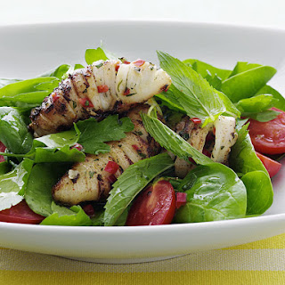 Grilled Chili Squid Salad