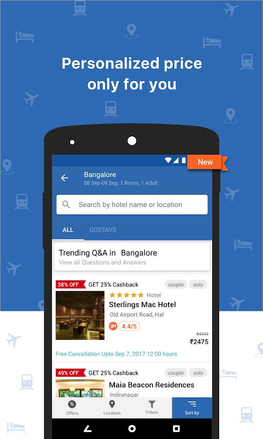 Screenshots of Goibibo: Book Hotel Flight Bus for iPhone