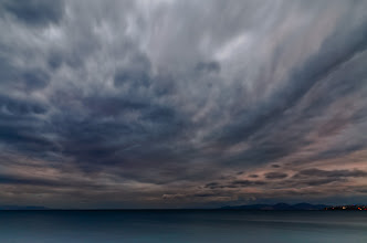 Photo: just sky...  trying out my new ND400 filter on a cloudy evening.