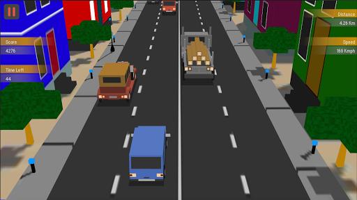 Traffic Racing : Blocky